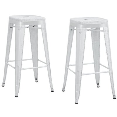 Uriarte 30 Bar Stool Finish: White