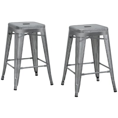 Uriarte 24 Bar Stool Finish: Silver