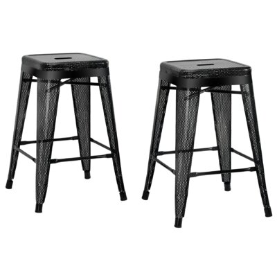 Uriarte 24 Bar Stool Finish: Black