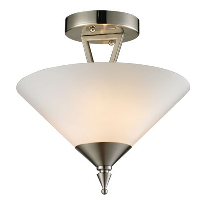 Abrielle 2-Light Semi Flush Mount Finish: Brushed Nickel