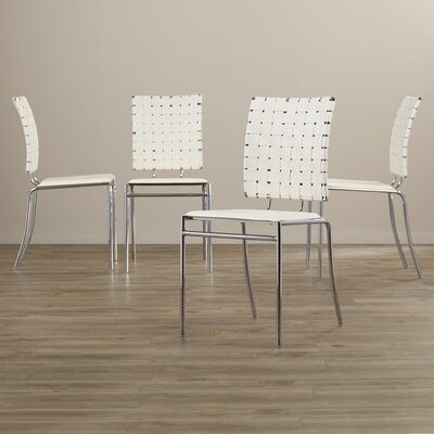 Ardoin Side Chair Upholstery: White