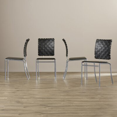 Ardoin Side Chair Upholstery: Black