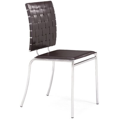 Ardoin Side Chair Upholstery: Espresso