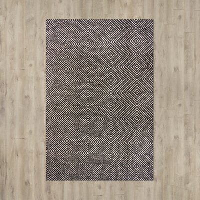 Marcelo Hand-Tufted Black Area Rug Rug Size: 4 x 6