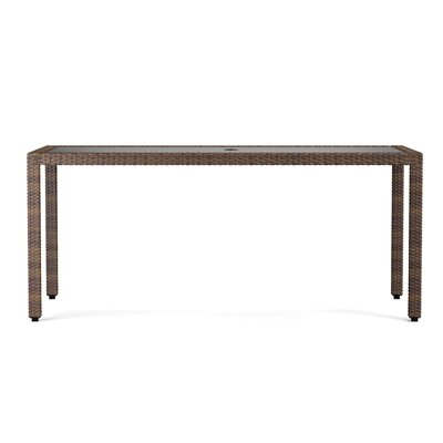 Ellie Rectangle Dining Table Finish: Brown