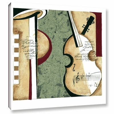 Musical Moment III Framed Painting Print on Wrapped Canvas Size: 10