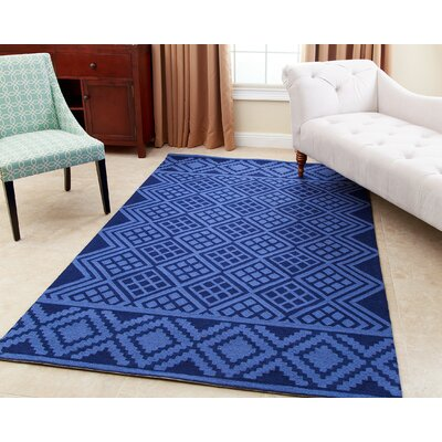 Luciana� Hand-Tufted Royal Blue Area Rug Rug Size: 5 x 8
