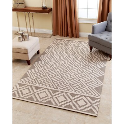 Bloss Hand-Tufted Grey Area Rug Rug Size: 5 x 8