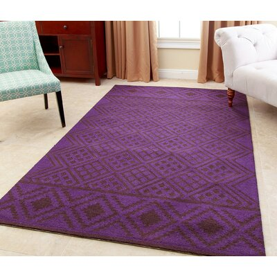 Bloss Hand-Tufted Purple Area Rug Rug Size: 8 x 10