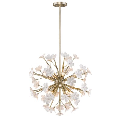 Adames 8-Light Pendant Finish: White Gold