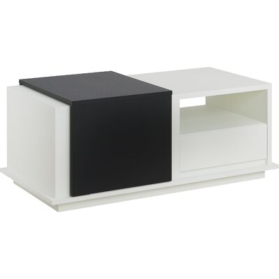 Leia Coffee Table Color: Black/White