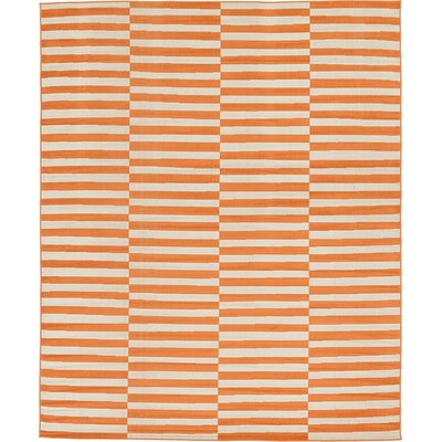 Braxton Orange Area Rug Rug Size: 8 x 10