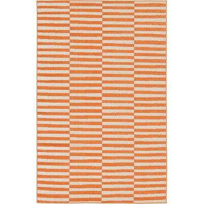 Braxton Orange Area Rug Rug Size: 5 x 8