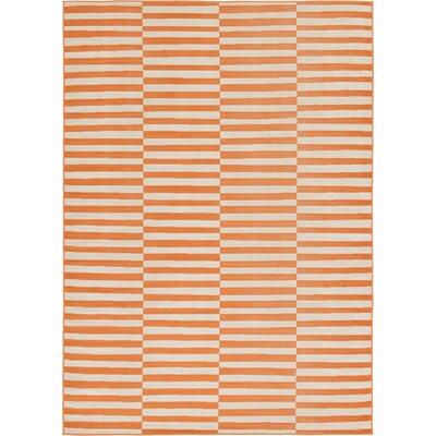 Braxton Orange Area Rug Rug Size: 7 x 10
