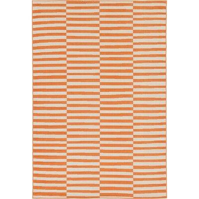 Braxton Orange Area Rug Rug Size: 6 x 9