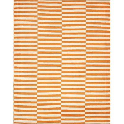 Braxton Orange Area Rug Rug Size: 10 x 13