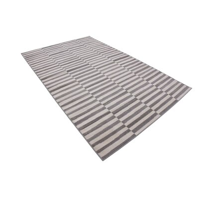 Braxton Warm Gray/Ivory Area Rug Rug Size: Rectangle 5 x 8