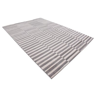 Braxton Warm Gray/Ivory Area Rug Rug Size: Rectangle 7 x 10