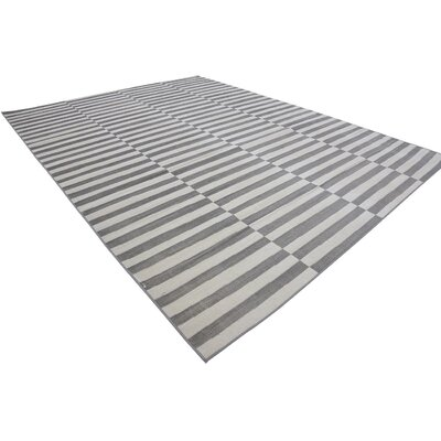 Braxton Warm Gray/Ivory Area Rug Rug Size: Rectangle 9 x 12