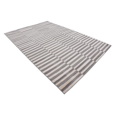 Braxton Warm Gray/Ivory Area Rug Rug Size: Rectangle 6 x 9