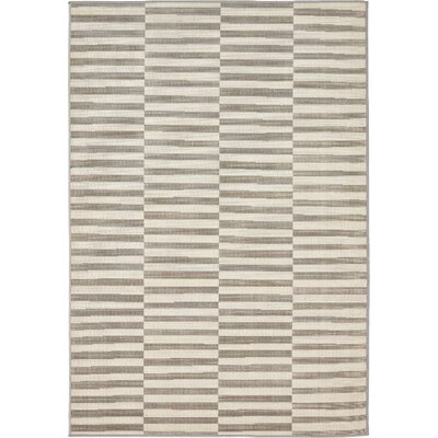 Braxton Warm Gray/Ivory Area Rug Rug Size: Rectangle 4 x 6