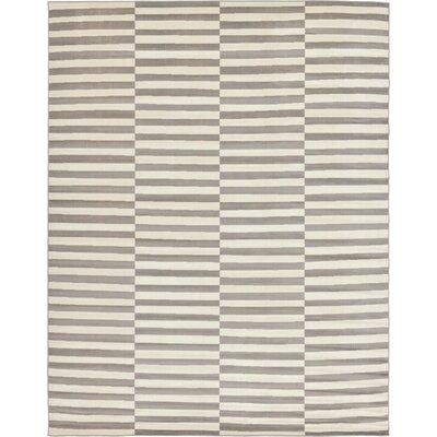 Braxton Warm Gray Area Rug Rug Size: 10 x 13