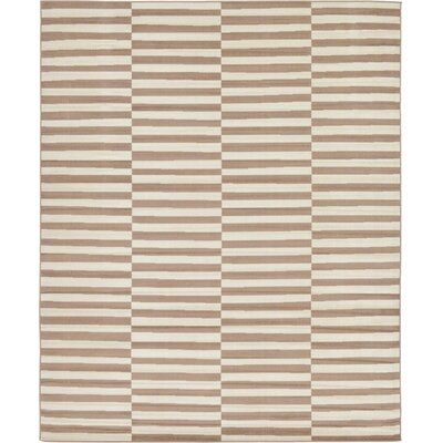 Braxton Light Brown Area Rug Rug Size: Rectangle 8 x 10
