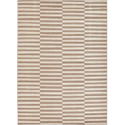Braxton Light Brown Area Rug Rug Size: Rectangle 7 x 10