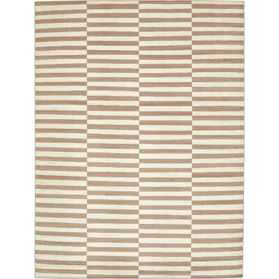 Braxton Light Brown Area Rug Rug Size: 9 x 12
