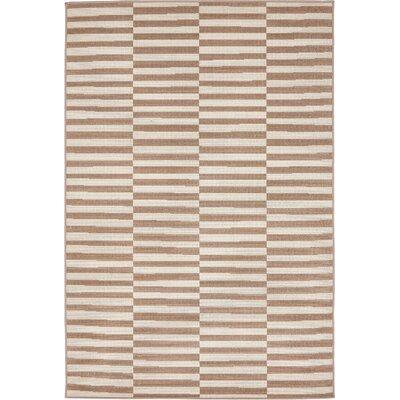 Braxton Light Brown Area Rug Rug Size: Rectangle 4 x 6
