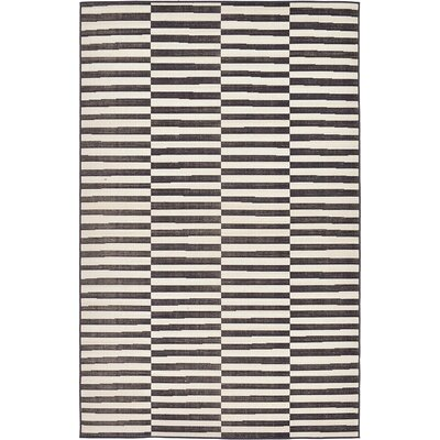 Braxton Black Area Rug Rug Size: 5 x 8