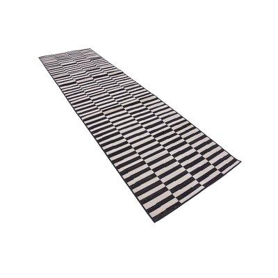 Braxton Black Area Rug Rug Size: Runner 29 x 910