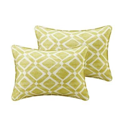 Barna Printed Throw Pillow Color: Green