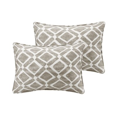 Barna Cotton Blend Throw Pillow Color: Grey