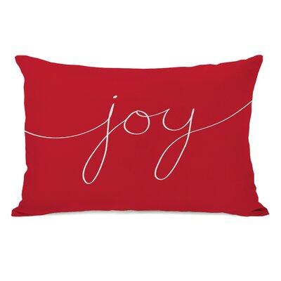 Lidia Joy Mix and Match Lumbar Pillow Color: Red