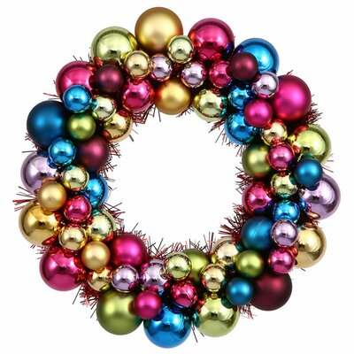 Shatterproof Christmas Ball Ornament Wreath Color: Multi