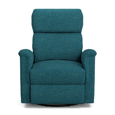 Beckham Manual Swivel Glider Recliner Upholstery: Blue