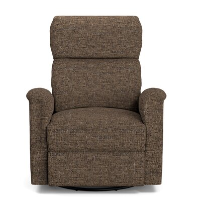 Beckham Manual Swivel Glider Recliner Upholstery: Brown