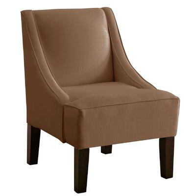 Cebes Swoop Arm Chair Upholstery: Khaki