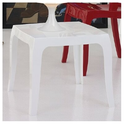 Elinn Queen Side Table Color: Glossy White