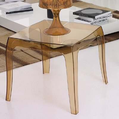 Elinn Queen Side Table Color: Transparent Amber