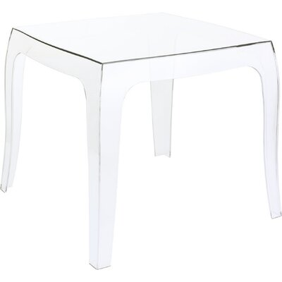Elinn Queen Side Table Color: Transparent Clear
