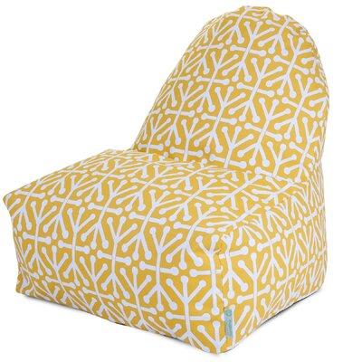 Nerys Geometric Bean Bag Lounger Upholstery: Citrus