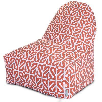 Nerys Geometric Bean Bag Lounger Upholstery: Orange