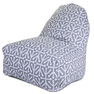 Nerys Geometric Bean Bag Lounger Upholstery: Gray