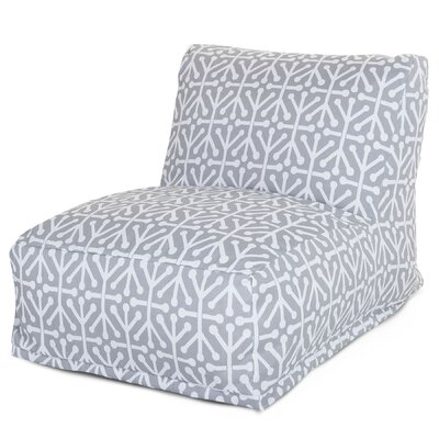 Nerys Bean Bag Lounger Upholstery: Gray