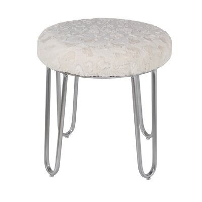 Bate 19 Round Ottoman Upholstery Color: White
