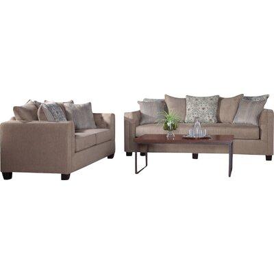 Serta Upholstery Baumer Loveseat Upholstery: DaVinci Steel