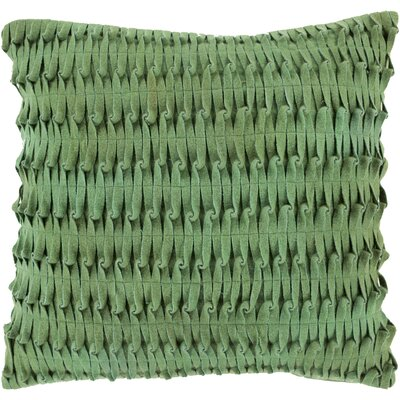 Baumgardner Throw Pillow Cover Size: 18 H x 18 W x 1 D, Color: Green