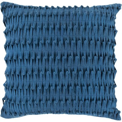 Baumgardner Throw Pillow Cover Size: 22 H x 22 W x 1 D, Color: Blue